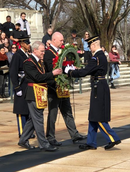Wreath laying at Arlington National Cemetery